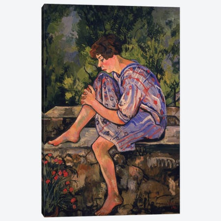 Seated Young Woman, 1930 3-Piece Canvas #BMN8019} by Marie Clementine Valadon Canvas Art Print