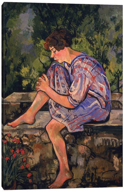 Seated Young Woman, 1930 Canvas Art Print