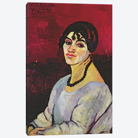 Self Portrait, 1918 Canvas Print #BMN8020} by Marie Clementine Valadon Canvas Artwork