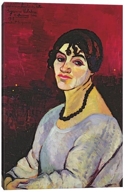 Self Portrait, 1918 Canvas Art Print
