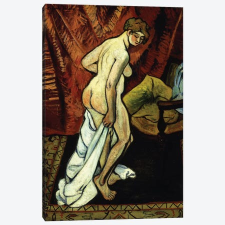 Standing Nude With Towel (Nu Debout Sa Drapant), 1919 Canvas Print #BMN8021} by Marie Clementine Valadon Canvas Wall Art