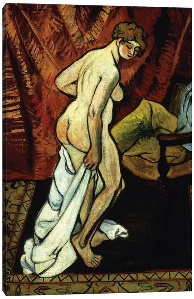 Standing Nude With Towel (Nu Debout Sa Drapant), 1919 Canvas Art Print