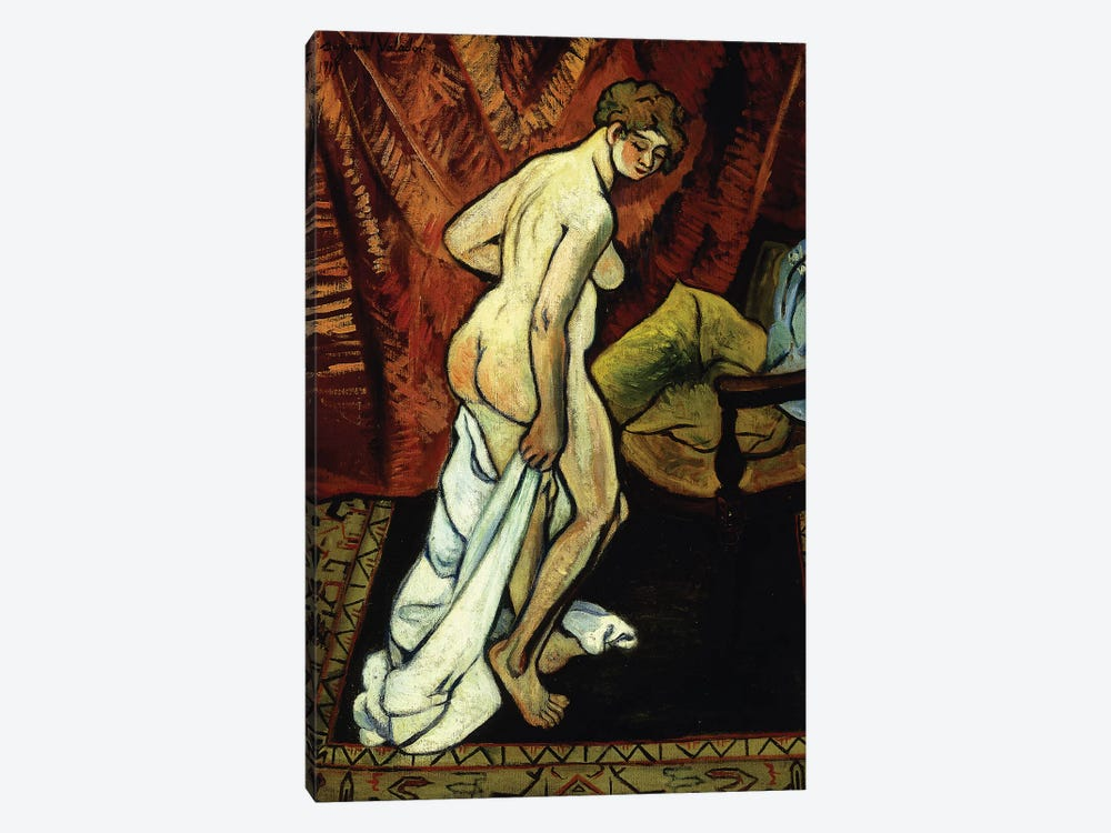Standing Nude With Towel (Nu Debout Sa Drapant), 1919 1-piece Canvas Print