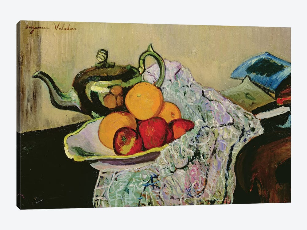 Still Life With Teapot And Fruit by Marie Clementine Valadon 1-piece Canvas Artwork