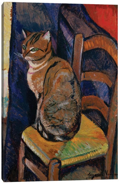 Study Of A Cat Sitting On A Chair (Etude D'Un Chat, Assis Sur Une Chaise) Canvas Art Print