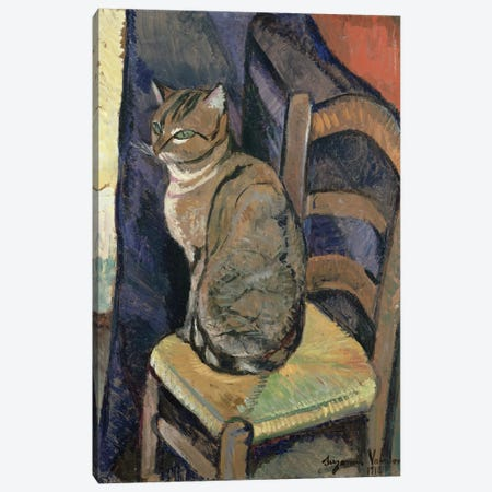 Study Of A Cat, 1918 3-Piece Canvas #BMN8024} by Marie Clementine Valadon Art Print