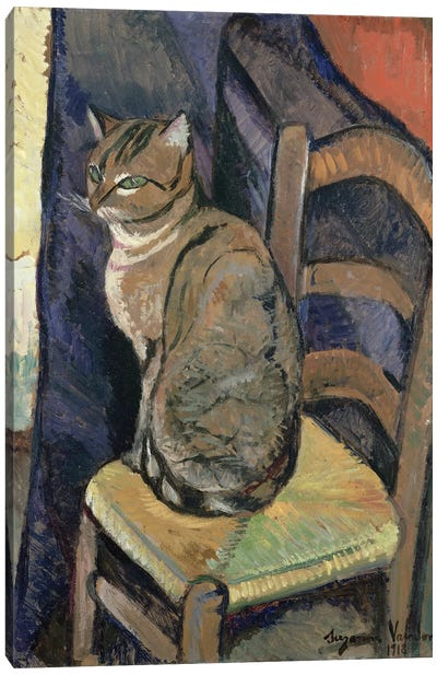 Study Of A Cat, 1918 Canvas Art Print