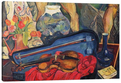 The Violin Case, 1923 Canvas Art Print