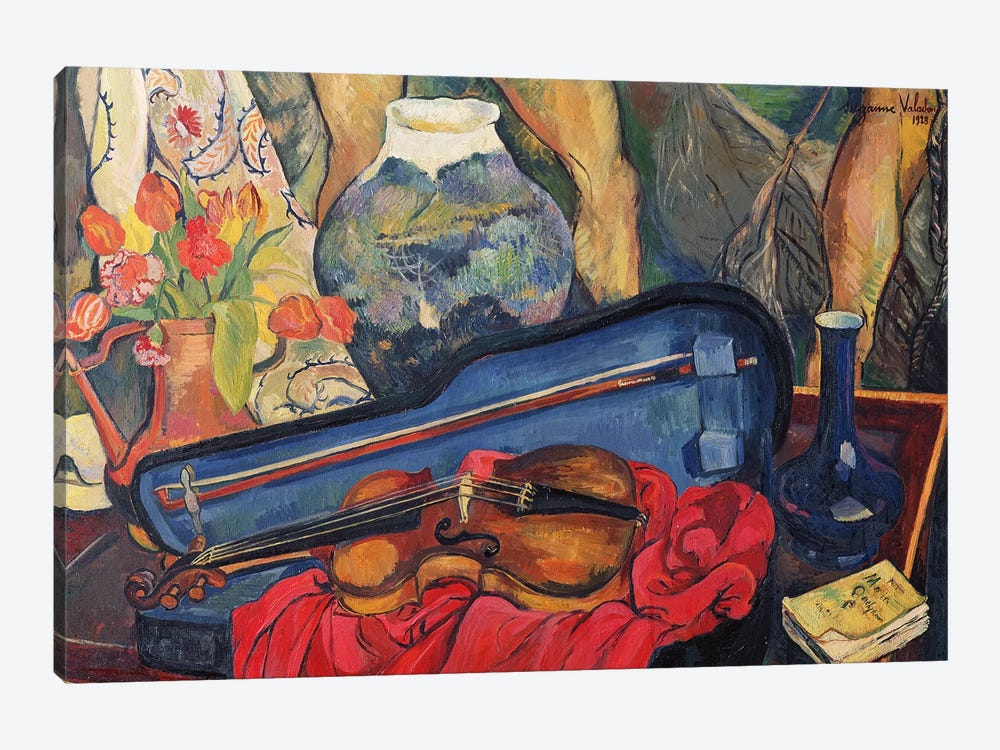 The Violin Case, 1923 by Marie Clementine Valadon 1-piece Canvas Print