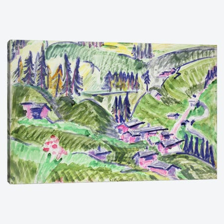Landscape, 1918  Canvas Print #BMN802} by Ernst Ludwig Kirchner Canvas Art