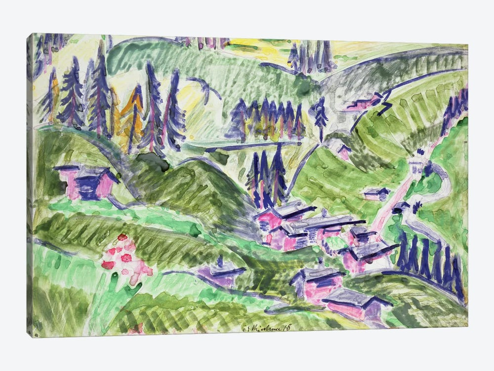 Landscape, 1918  by Ernst Ludwig Kirchner 1-piece Canvas Wall Art