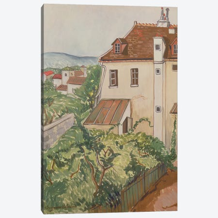 View Of A Garden Canvas Print #BMN8030} by Marie Clementine Valadon Canvas Art Print