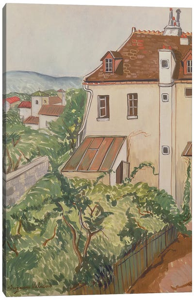 View Of A Garden Canvas Art Print