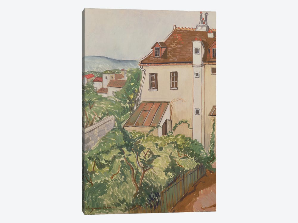 View Of A Garden by Marie Clementine Valadon 1-piece Canvas Art Print