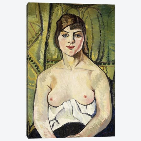 Woman With Bare Breasts (Self Portrait) (Femme Aux Seins Nus (Autoportrait)), 1917 Canvas Print #BMN8031} by Marie Clementine Valadon Art Print
