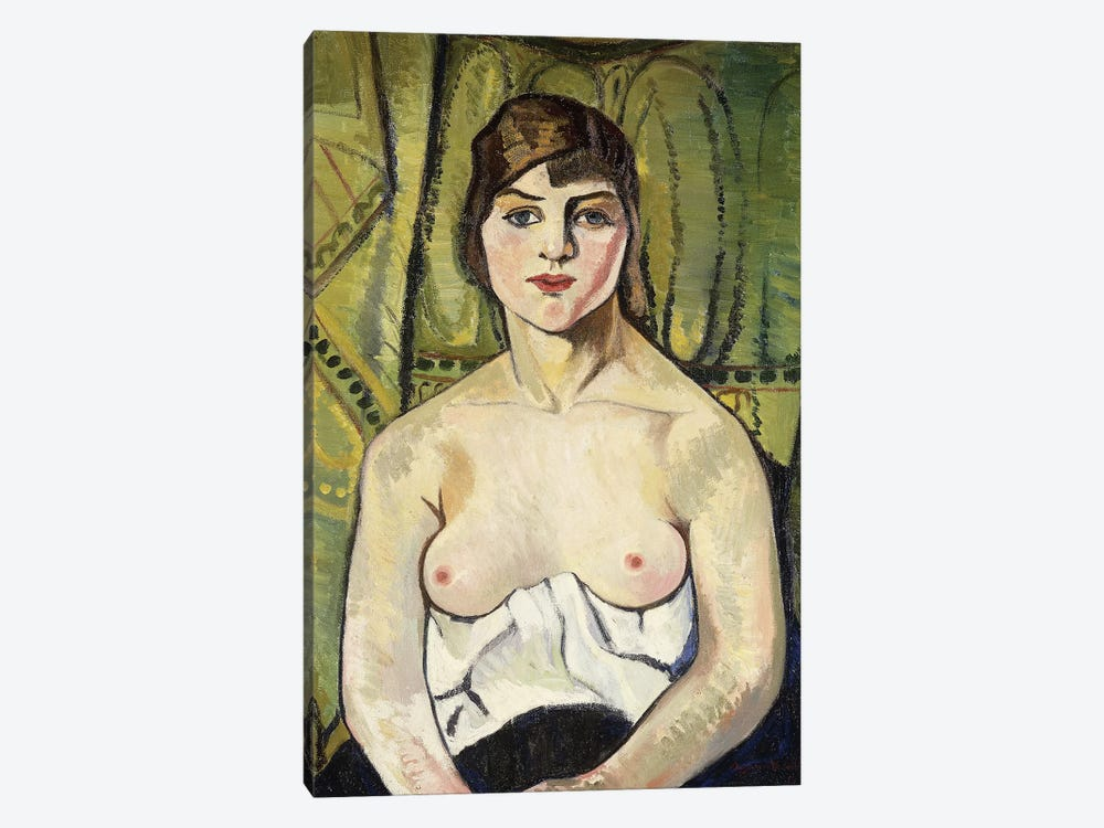 Woman With Bare Breasts (Self Portrait) (Femme Aux Seins Nus (Autoportrait)), 1917 by Marie Clementine Valadon 1-piece Canvas Wall Art