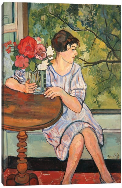 Young Girl In Front Of A Window, 1930 Canvas Art Print
