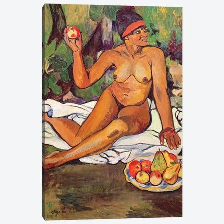Young Half-Caste Woman 3-Piece Canvas #BMN8033} by Marie Clementine Valadon Canvas Print