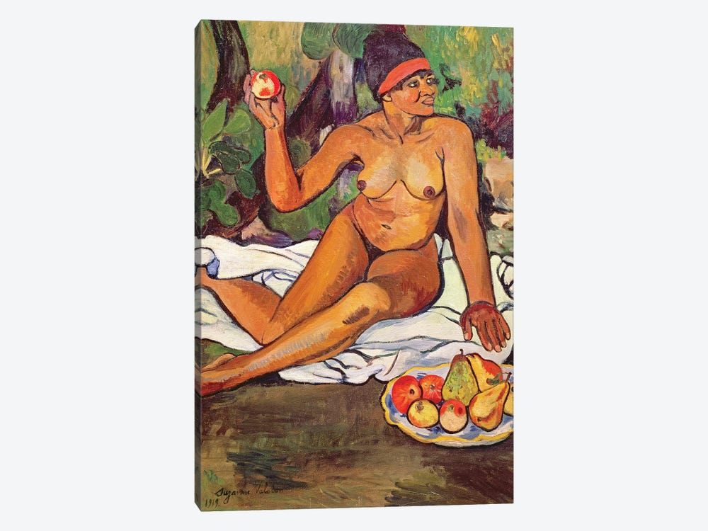 Young Half-Caste Woman by Marie Clementine Valadon 1-piece Canvas Wall Art