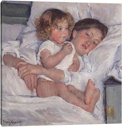 Breakfast In Bed, 1897 Canvas Art Print