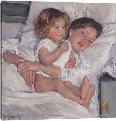 Breakfast In Bed, 1897 Canvas Art Print