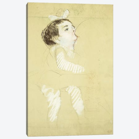 Breastfeeding Infant (Enfant Au Sein), c.1900 Canvas Print #BMN8038} by Mary Stevenson Cassatt Art Print