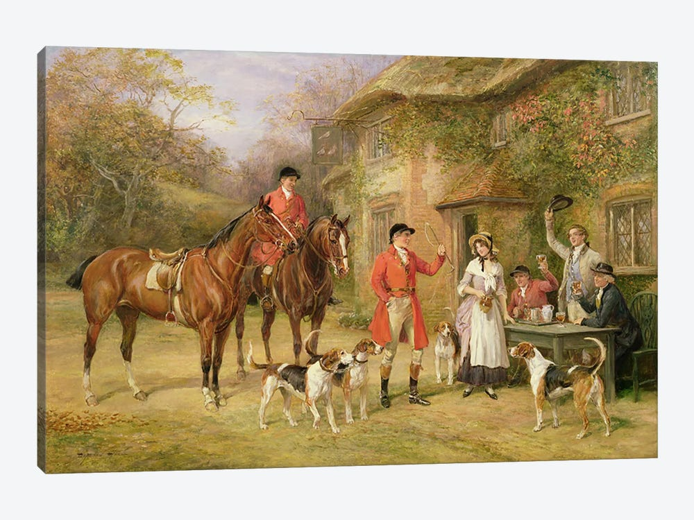 A Meeting at the Three Pigeons by Heywood Hardy 1-piece Art Print