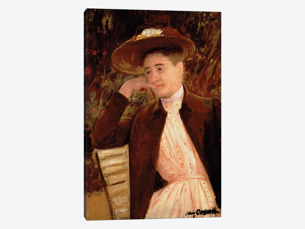 Celeste In A Brown Hat, 1891 by Mary Stevenson Cassatt 1-piece Canvas Artwork