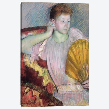 Contemplation, 1891 Canvas Print #BMN8042} by Mary Stevenson Cassatt Canvas Artwork