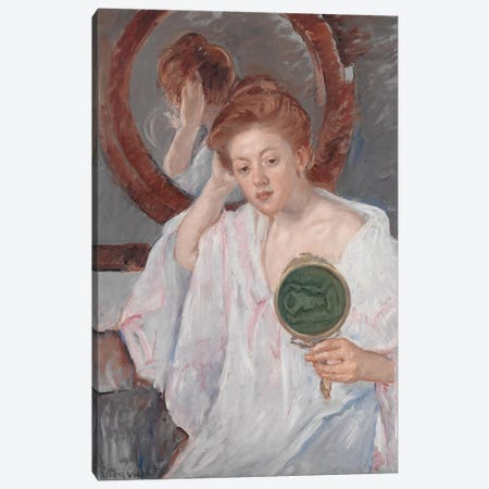 Denise At Her Dressing Table, c.1908-9 Canvas Print #BMN8043} by Mary Stevenson Cassatt Canvas Wall Art