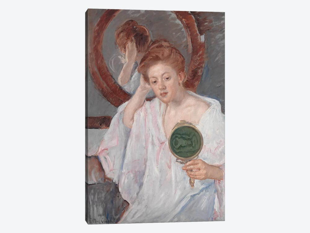 Denise At Her Dressing Table, c.1908-9 by Mary Stevenson Cassatt 1-piece Canvas Print
