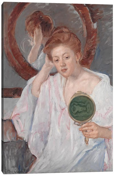 Denise At Her Dressing Table, c.1908-9 Canvas Art Print