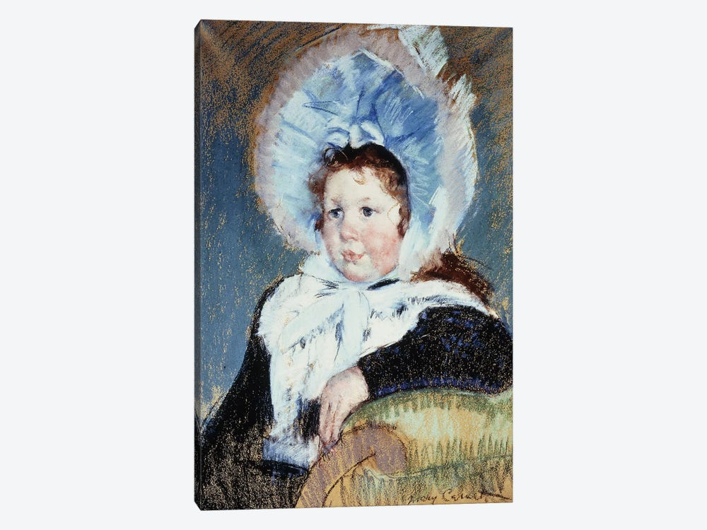 Dorothy In A Very Large Bonnet And A Dark Coat, c.1904 by Mary Stevenson Cassatt 1-piece Canvas Artwork