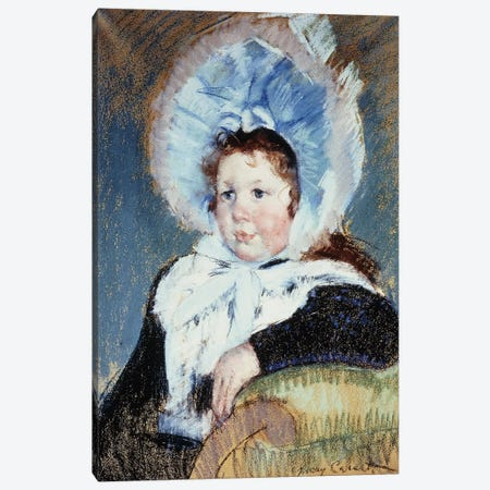 Dorothy In A Very Large Bonnet And A Dark Coat, c.1904 3-Piece Canvas #BMN8044} by Mary Stevenson Cassatt Art Print