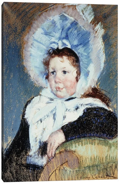 Dorothy In A Very Large Bonnet And A Dark Coat, c.1904 Canvas Art Print