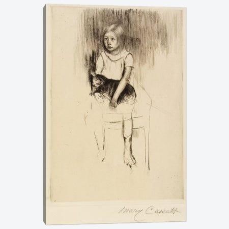 Ellen Holding A Cat, Looking Left, c.1887 Canvas Print #BMN8045} by Mary Stevenson Cassatt Art Print