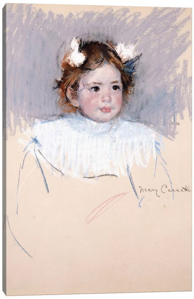 Ellen With Bows In Her Hair, Looking Right, 1899 Canvas Art Print