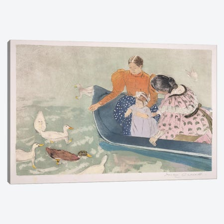 Feeding The Ducks, 1895 Canvas Print #BMN8048} by Mary Stevenson Cassatt Canvas Wall Art