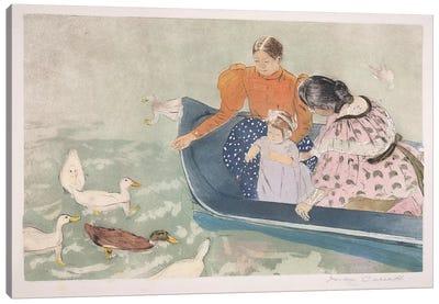 Feeding The Ducks, 1895 Canvas Art Print