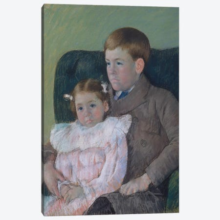 Gardner And Ellen Mary Cassatt, 1899 Canvas Print #BMN8049} by Mary Stevenson Cassatt Canvas Artwork