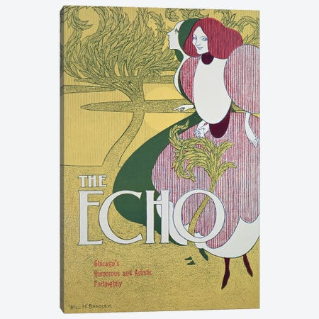 Front cover of 'The Echo'  Canvas Print #BMN804} by William Bradley Canvas Print