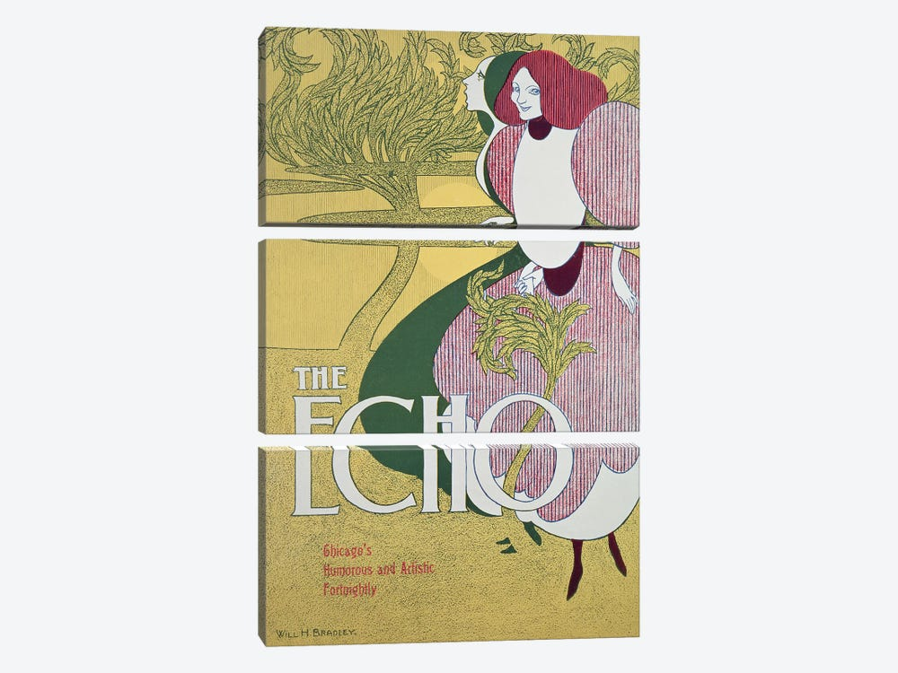 Front cover of 'The Echo'  by William Bradley 3-piece Canvas Wall Art