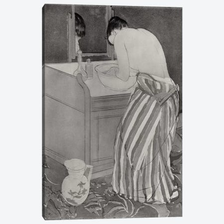 La Toilette, 1891 3-Piece Canvas #BMN8052} by Mary Stevenson Cassatt Canvas Print