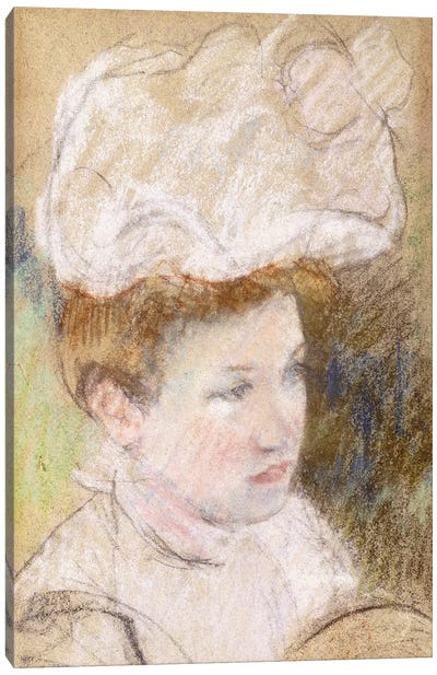 Leontine In A Pink Fluffy Hat, 1898 Canvas Art Print