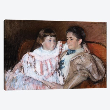 Louisine Havemeyer And Her Daughter Electra, 1895 Canvas Print #BMN8055} by Mary Stevenson Cassatt Canvas Wall Art