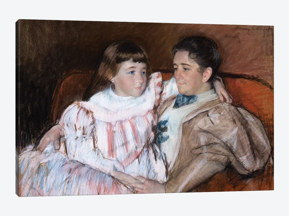 Louisine Havemeyer And Her Daughter Electra, 1895 1-piece Canvas Wall Art