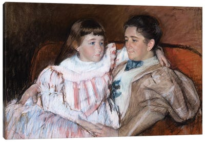 Louisine Havemeyer And Her Daughter Electra, 1895 Canvas Art Print