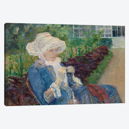 Lydia Crocheting In The Garden At Marly, 1880 3-Piece Canvas #BMN8056} by Mary Stevenson Cassatt Canvas Wall Art