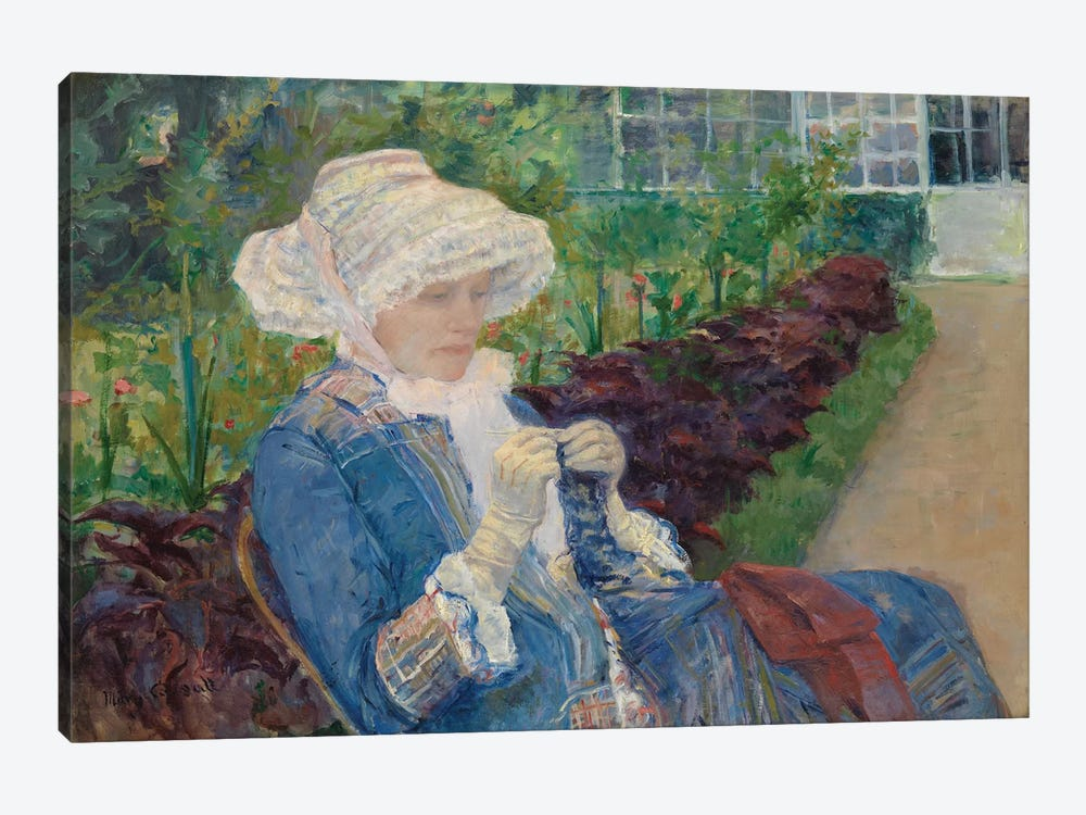 Lydia Crocheting In The Garden At Marly, 1880 by Mary Stevenson Cassatt 1-piece Canvas Art Print