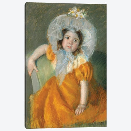 Margot In Orange Dress, 1902 Canvas Print #BMN8059} by Mary Stevenson Cassatt Canvas Art Print